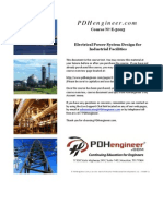 Electrical Power System Design for Industrial Facilities