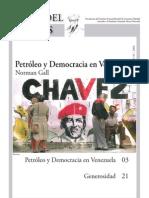 Petroleo y Democracia en Venezuela-norma Gall