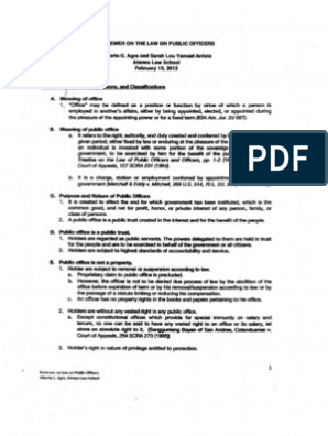 poli - agra notes - public officers pdf | Government | Politics