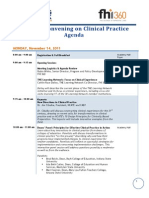 National Convening on Clinical Practice Agenda