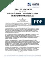 California Hospital Association Media Statement