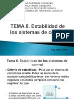Tema 6. Estabilidad de Los Sistemas de Control