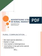 Advertising Strategies in Rural Marketing
