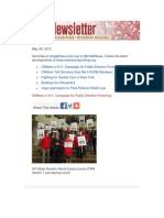 CWA Newsletter, THursday, May 30, 2013