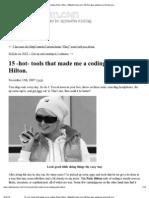 Print - 15 -Hot- Tools That Made Me a Coding Paris Hilton. _ MikeDuncan
