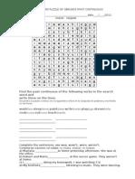 Crossword Puzzle Gerunds