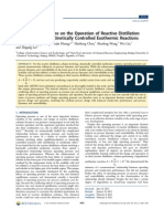 Influences of Pressure on the Operation of Reactive Distillation