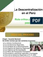La Descentralización en el Perú