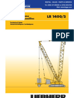 Liebherr LR1400 Technical Data