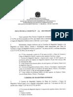 Nota Técnica 01-SESu-SETEC-SAA-MEC  - Carreira Magistério Federal