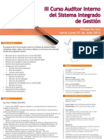 III Curso Auditor Sistema Integrado de Gestion