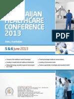 Agenda - Azerbaijan Healthcare Conference 2013