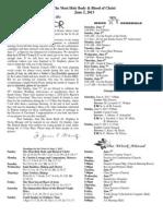 June 2, 2013 Bulletin