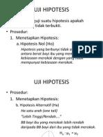 Menghitung Uji Hipotesis