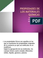 3.3 Propiedades de los materiales químicas