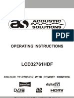 Acoustic Solutions lcd32761hdf