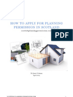 How to Apply for Planning in Scotland Apr 09