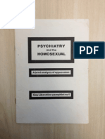 Psychiatry and the Homosexual