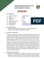 SILABUS  - Ingeniería Economica