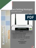 Cara Setting Hostspot