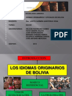 Idiomas Originarios de Bolivia-data