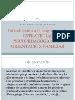 ESTRATEGIAS PSICOPEDAGÓGICAS DE ORIENTACIÓN FAMILIAR