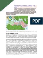CRISIS POLÍTICAS EN NORTE DE ÁFRICA Y EL GOLFO PÉRSICO