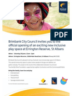 All Abilities Playground Flyer