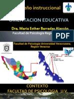 Diseño instruccional .Oriencion Educativa. Maria Ester Barradas Alarcon
