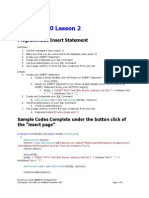 WEBDEVT Programmatic ASP.net Insert Statment and Redirect - Lesson 2