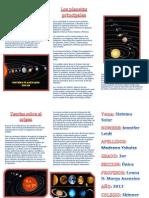 Triptico Sistema Planetario