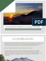 Manajemen Pariwisata Dalam Geopark