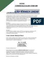 Www.comocalcular.com.Br - Dilatacao Linear