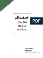 Marshall JCM800 Service Manual