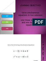 Simultaneous Equations 0508