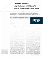 "Some Assembly Required""- Comparing Disclaimers in Children's TV Advertising in Turkey and the United States"