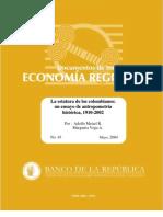 Antropometria - Medidas de Los Colombianos