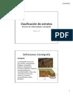 Tema 4.1 Clasificacion de Estratos
