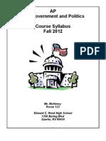 AP Government Syllabus