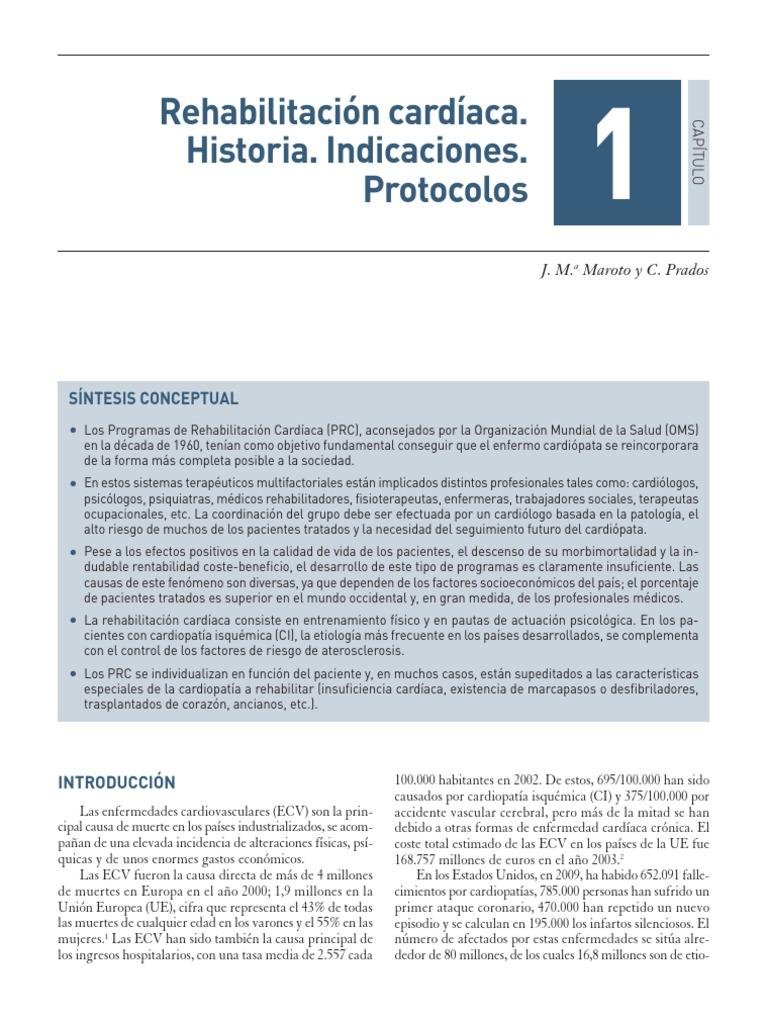 Rehabilitación Cardiovascular (Maroto Capítulo 1)