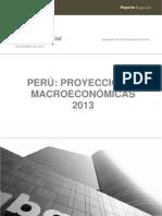 Scotiabank - Proyecciones Marco - Económicas 2013