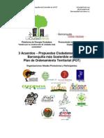 3 Acuerdos de la Sinergia Ciudadana La Ciudad Verde Para El POT Barranquilla