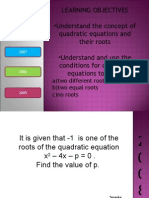 Quadratics Equations 0508