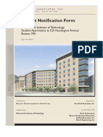 525 Huntington Avenue (Project Notification Form)