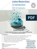 Digital Intergration 1 Day Hands on Introduction to Cerec and Implants 2