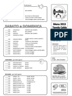 Sagra 2013 Menu
