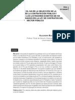 Debe incluirse el IVA en la selección de la mejor oferta en la contratación pública, de Alejandro Blázquez Lidoy