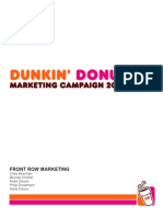 Dunkin' Donuts Marketing Campaign Strategy