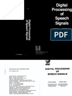 Digital Processing of Speech Signals (Rabiner & Schafer 1978)