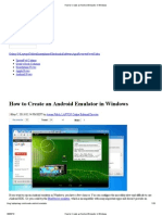How to Create an Android Emulator in Windows